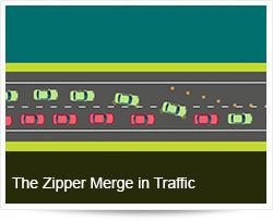 Sharing Roads and the Zipper Merge in Traffic