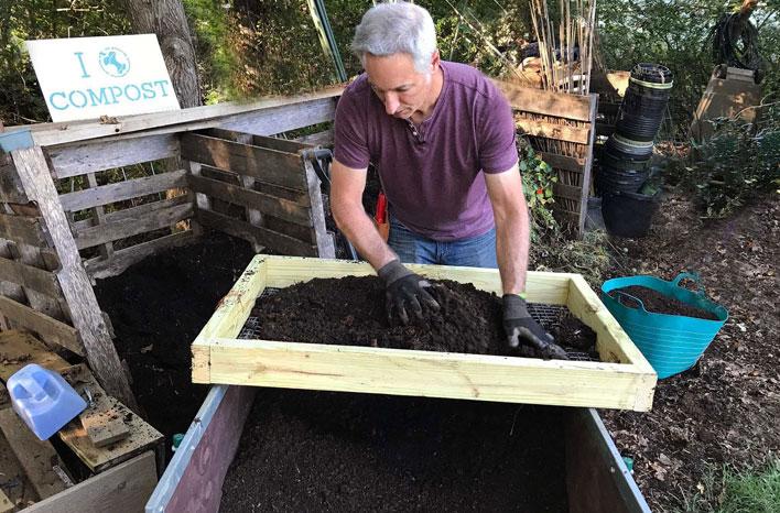 Garden Compost Sifter | How-To Make | joe gardener®