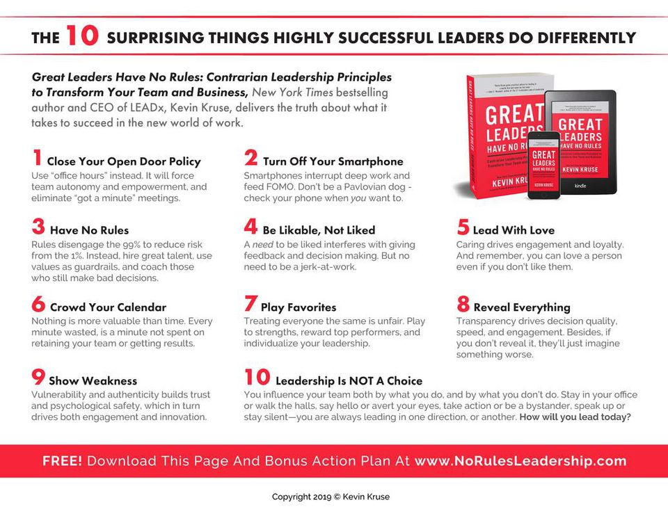 10 Surprising Things Successful Leaders Do Differently Proforma Execut