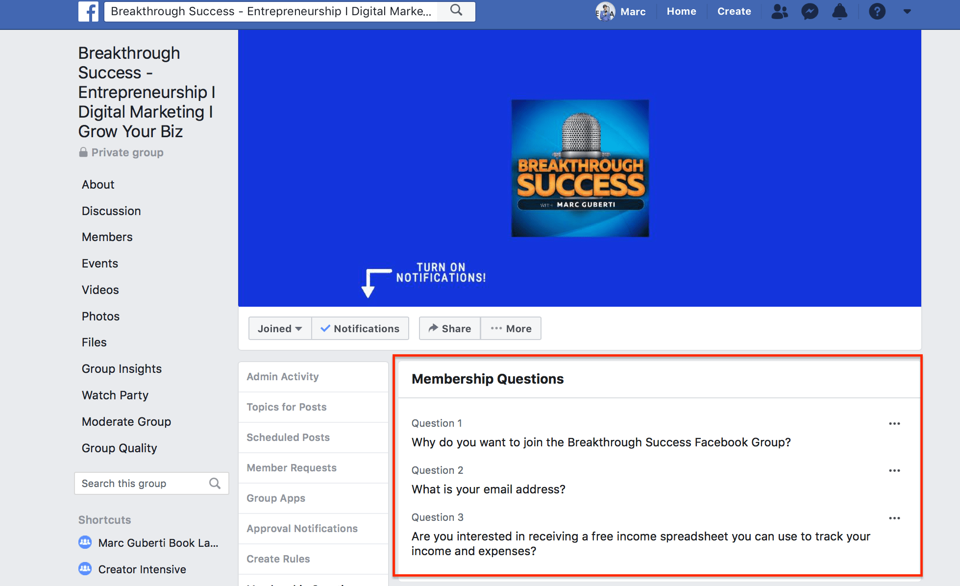 3 Strategies To Grow Your Facebook Group | Marc's Blog