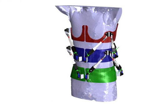 Robotic Spine Exoskeleton Measures Torso Stiffness in 3D