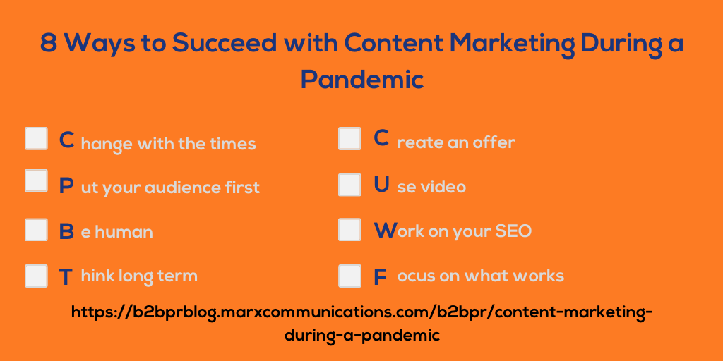 How to Win at Content Marketing During a Pandemic