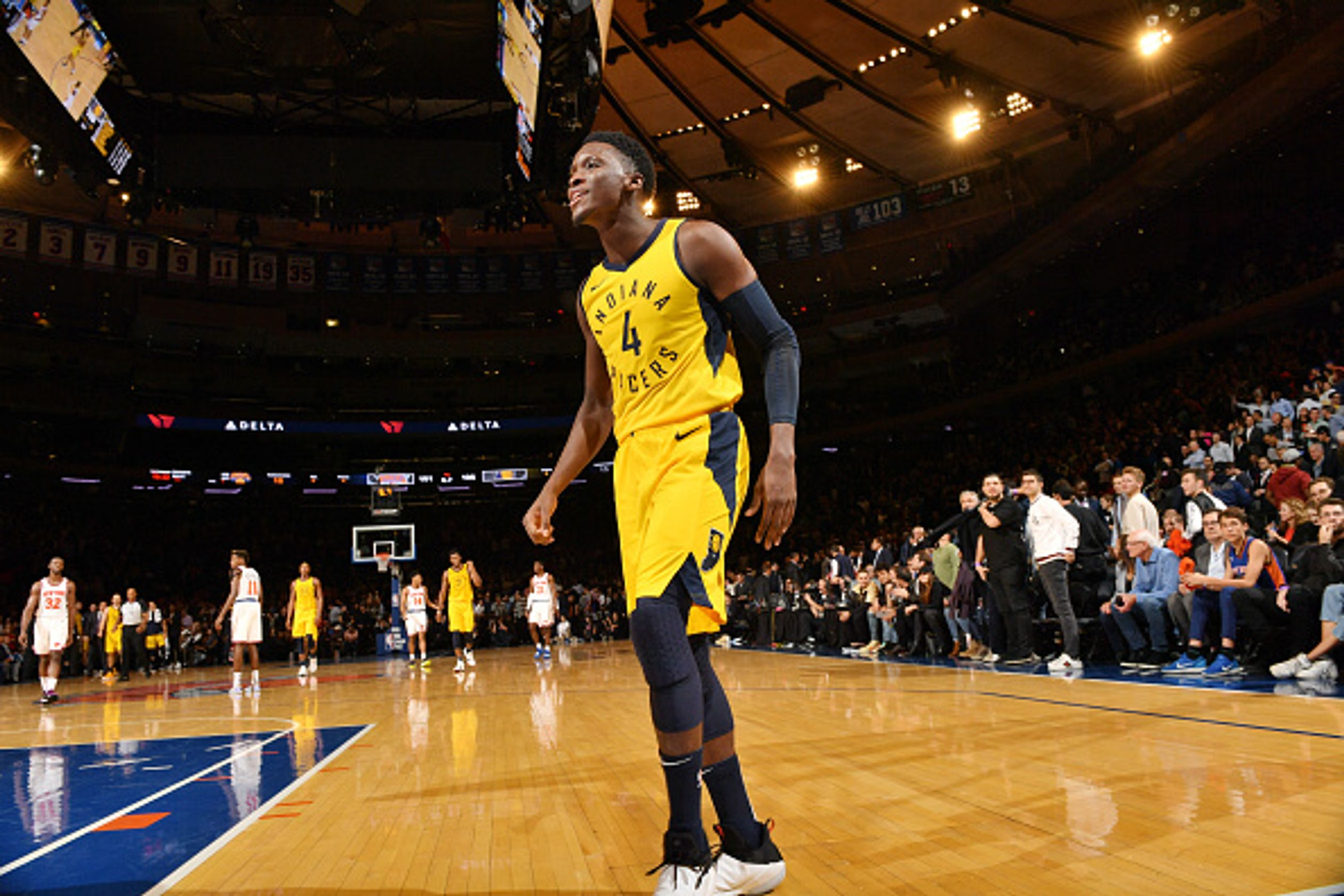 Watch how Victor Oladipo saves the Pacers against the Knicks