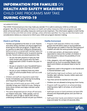 Is It Safe to Bring My Child to Child Care during COVID-19?