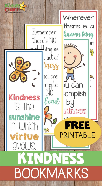 World Kindness Day: Free printable kindness bookmarks #WorldKindnessDay