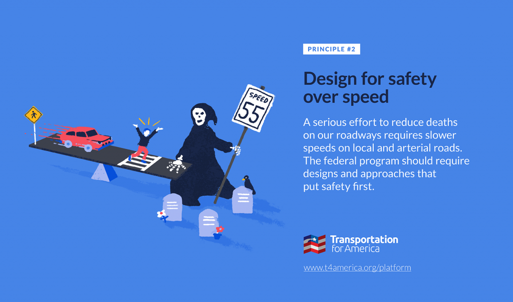 Transportation For America   –  Safety over speed week