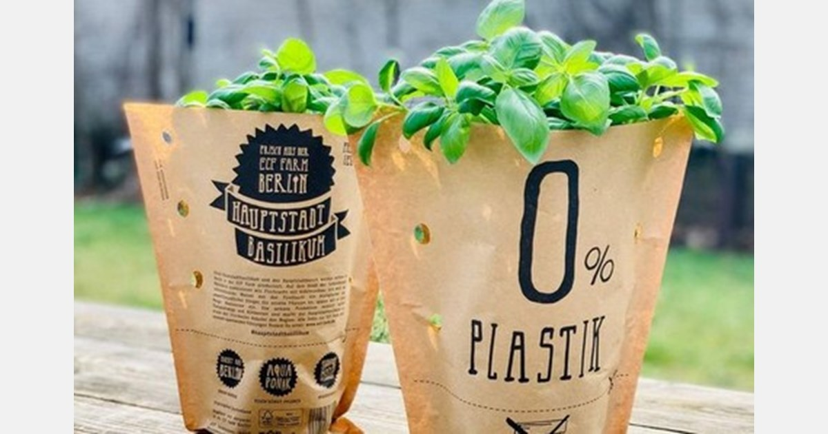Herbs, sold entirely in paper instead of plastic