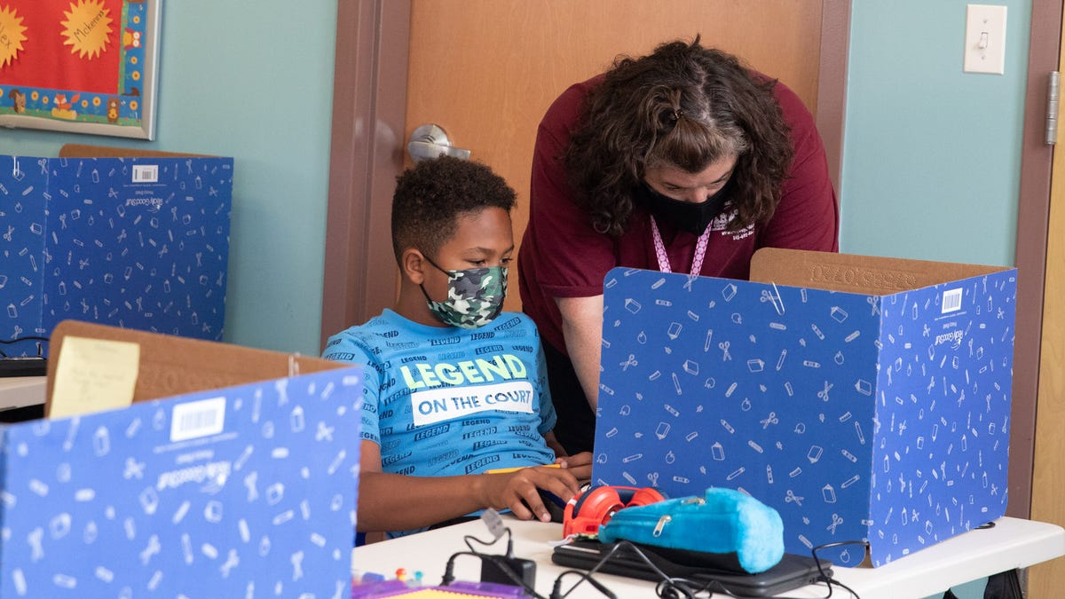 Child care centers tackle new challenges on remote learning days