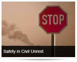Safety and Safe Driving in Areas of Public Violence