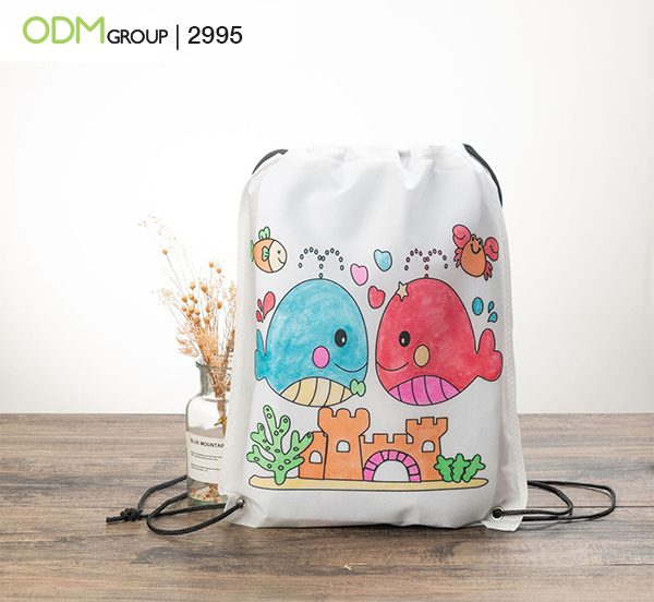 Coloring Drawstring Bag with Logo: Convert Onlookers to Buyers