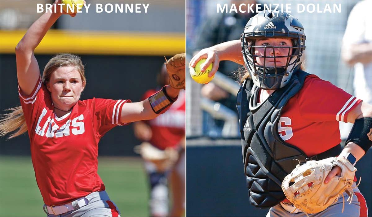 EMCC freshmen Britney Bonney and Mackenzie Dolan collect MACJC All-State softball honors