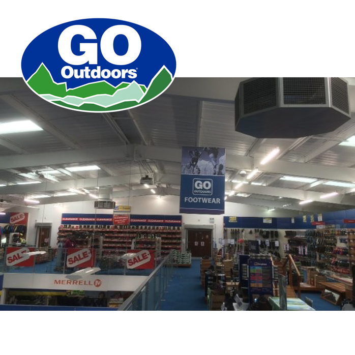 Keeping cool in all weathers - GO Outdoors use EcoCooling to prevent rising temperatures on their store mezzanine floors | EcoCooling