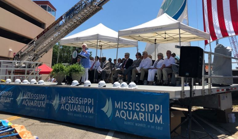 Groundbreaking ceremony kicks off Mississippi Aquarium construction