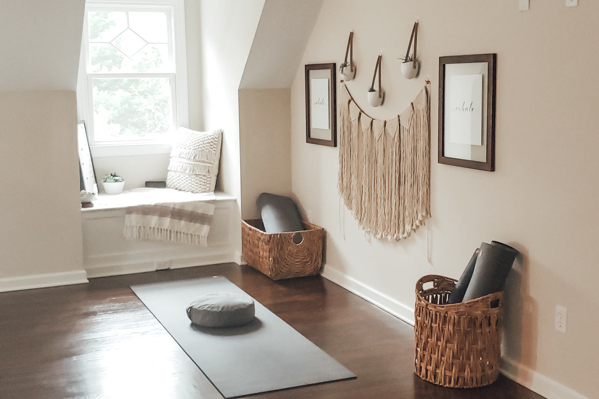 How to Create an At Home Yoga Space | health is wellth
