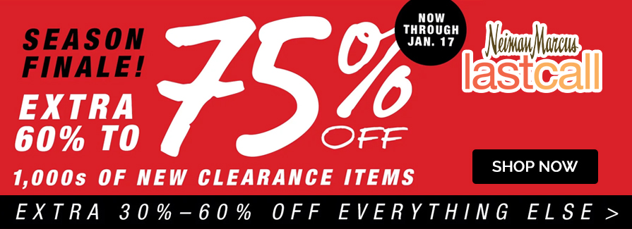 Season Finale! Take extra 60% to 75% off 1,000s of new clearance items