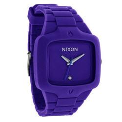 Nixon Men's A139230 Purple Silicone Quartz Watch