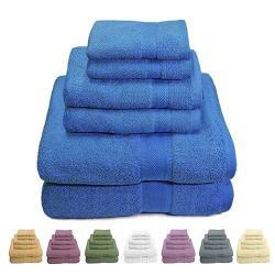 6 Piece Set: Luxurious 100% Cotton Bath Towels
