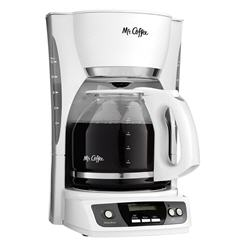 Mr. Coffee Simple Brew 12-Cup White Coffee Maker