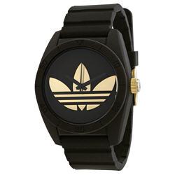 Adidas Santiago Black Dial Black Rubber Strap Mens Watch