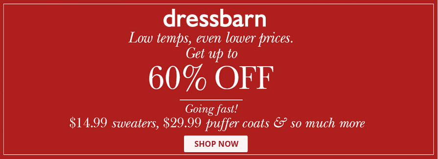 Now up to 60% Off plus even more styles