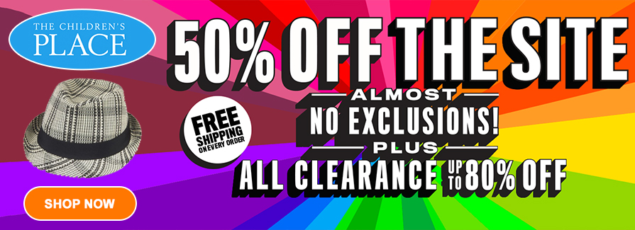 Take 50% off the site Plus All clearance up to 80% off