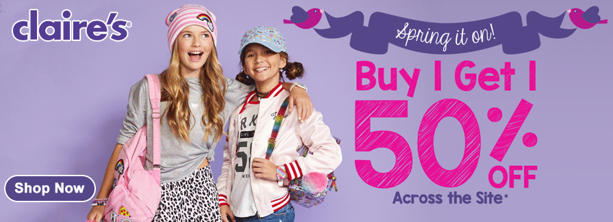 Buy 1 Get 1 50% off across the site...!!!