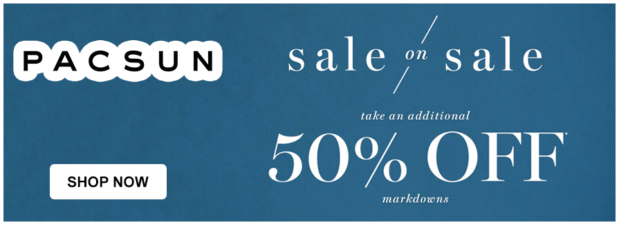 Sale On Sale! Take an additional 50% off markdowns!