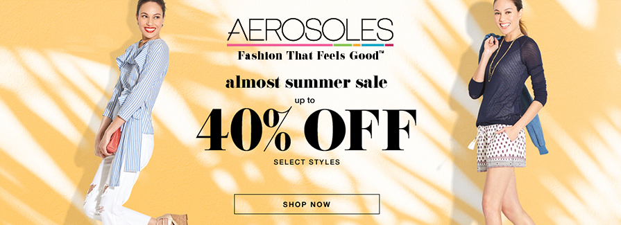 Up to 40% Off almost summer sale!
