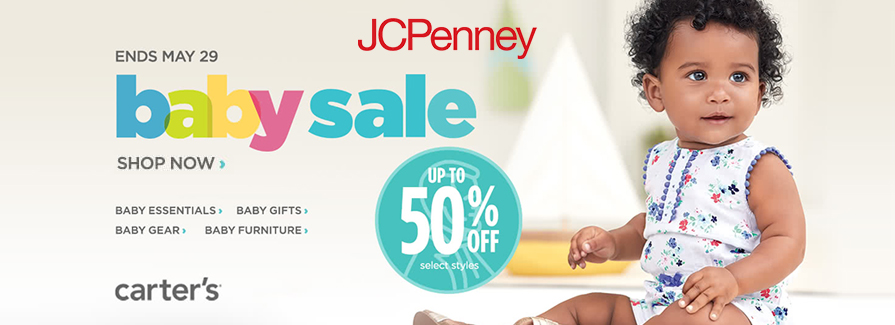 Baby Sale! Take up to 50% off select styles..