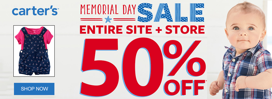 Memorial Day Sale! Entire Site + Store 50% off