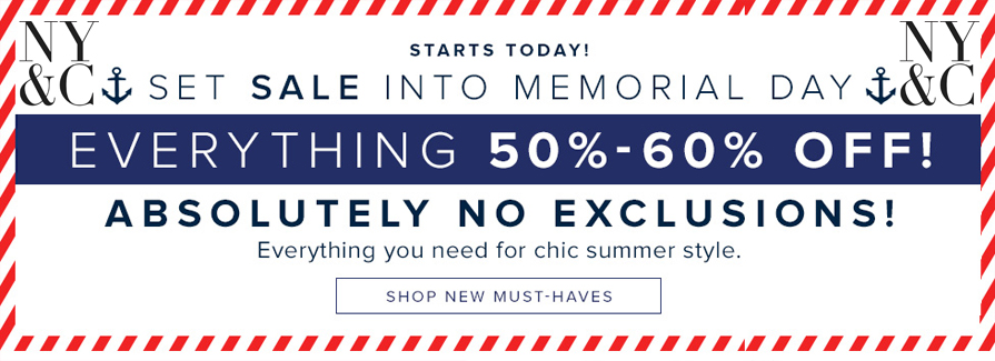 Memorial Day Sale! Everything 50% - 60% off...!!