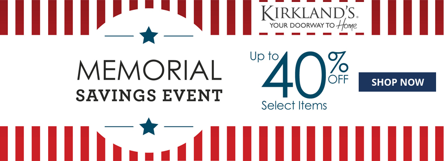 Memorial Savings Event! Take up to 40% of select items..!!