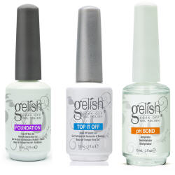 Gelish Gel LED Foundation Base Coat + Top It Off Coat + pH Bond 15 mL Polish Set