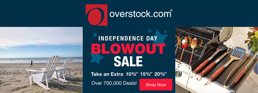 Independence Day Blowout! Take an extra 10%, 15%, 20% off