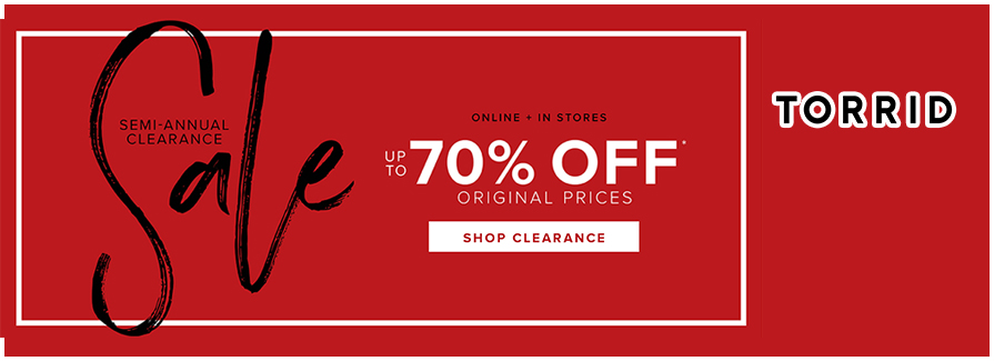 Semi-Annual Clearance! Take up to 70% off original prices!