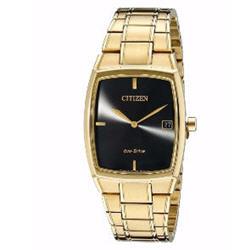 Citizen Eco-Drive Men's AU1072-52E Black Dial Yellow Gold Dress Watch