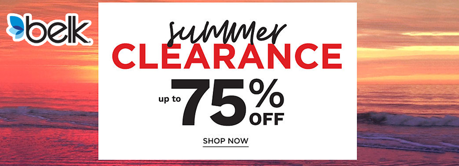 Summer Clearance! Take up to 75% off