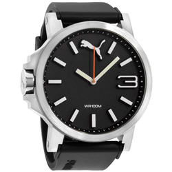 Puma Ultrasize Black Dial Silicone Strap Men's Watch