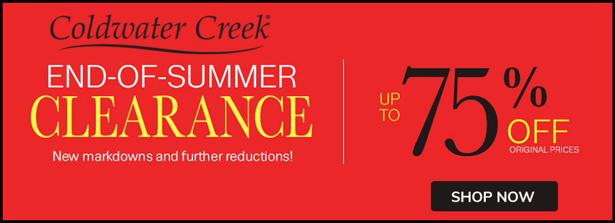 End Of Summer Clearance! Take up to 75% off original prices