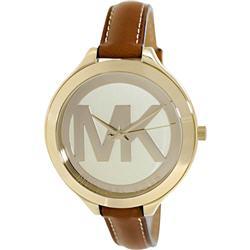 Michael Kors Women's Brown Leather Quartz Fashion Watch