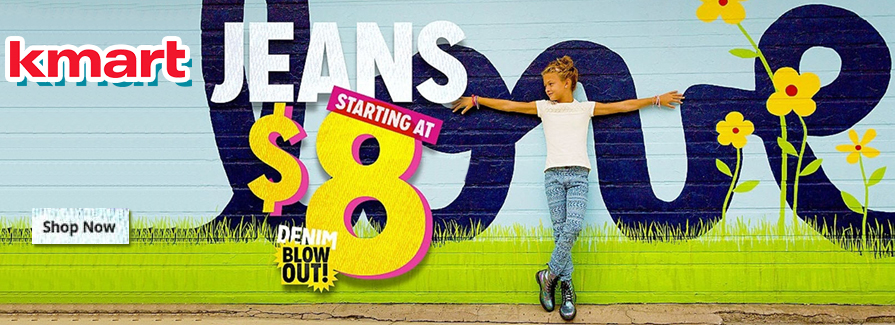 Jeans starting at $8 from Kmart...!!!