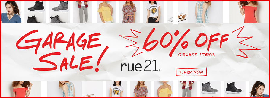 Garage Sale! Take 60% off select items