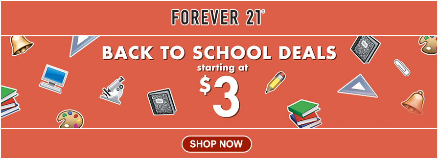 Back To School Deals Starting at $3