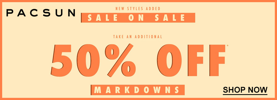 Sale On Sale! Take an additional 50% off markdowns..!!