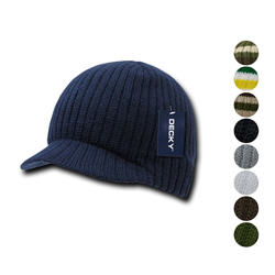 Decky GI Campus Jeep Beanies Striped Solid Skull Caps Hats