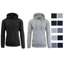 2 Pack Men's Slim-Fit Fleece-Lined Pullover Heavyweight Hoodie