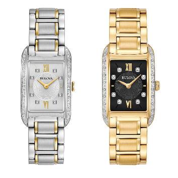 Bulova Women's Diamond Markers Quartz Silver-Tone or Gold-Tone Watch