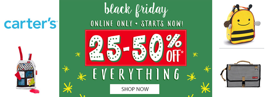 Carters Black Friday Sale! Take 25-50% off Everything...!!