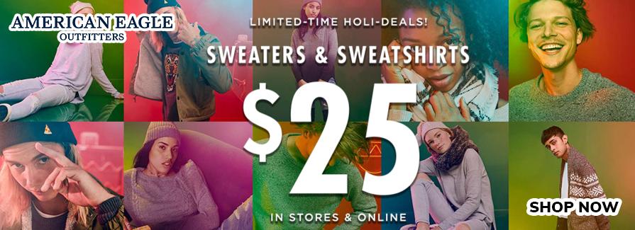 $25 Sweaters & Sweatshirts