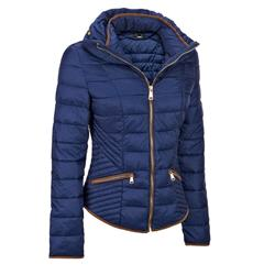 Wilsons Leather Womens Web Buster Quilted Funnel Collar Puffy Jacket
